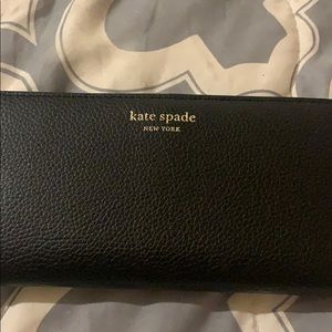 Black Kate Spade large slim bifold wallet - NEW!